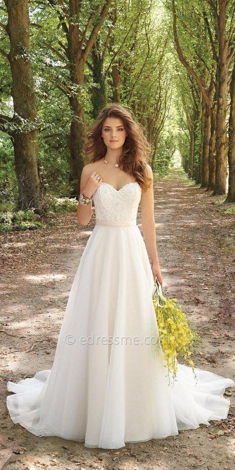 robe mariage bustier