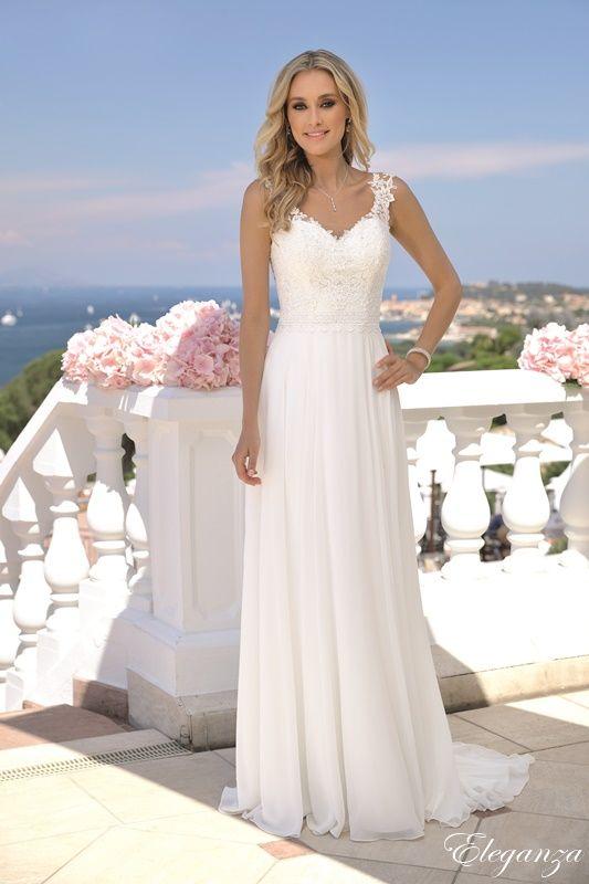 robe mariage coupe droite