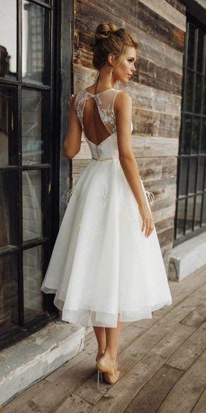 robe mariage mi longue