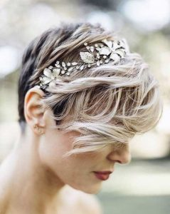 coiffure mariage - cheveux courts
