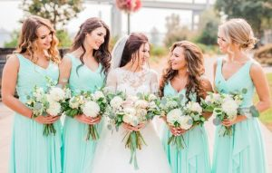 robe turquoise menthe