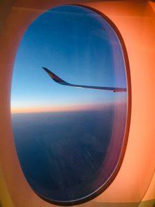 méditation dans l'avion
