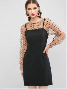 robe avec manches en organza