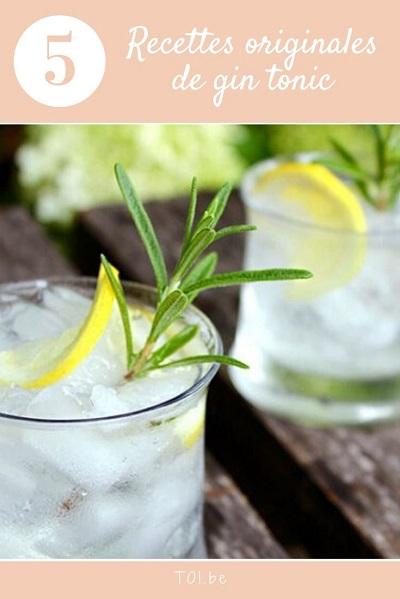Recettes originales de gin tonic