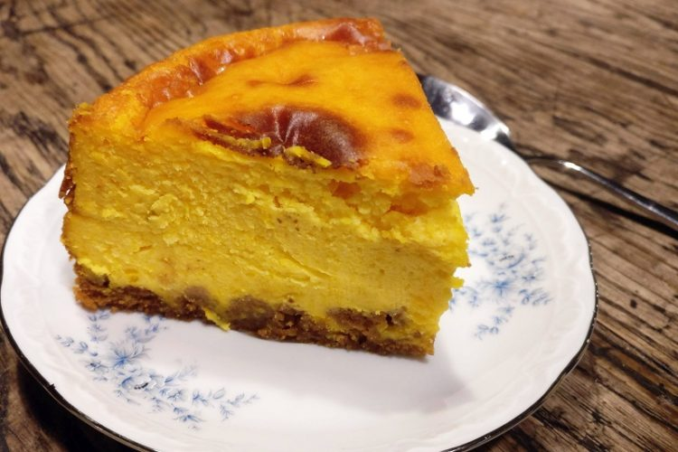 Cheesecake au potiron et au spéculoos