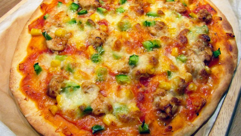 Pizza poulet barbecue