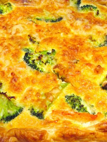 Quiche saumon brocoli