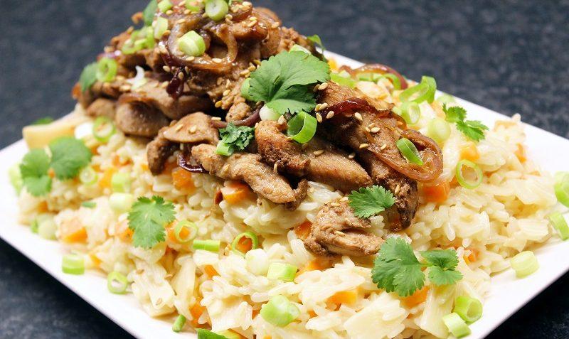 poulet et riz à la noix de coco