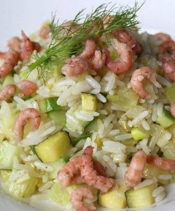 riz frais aux légumes